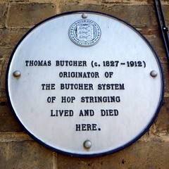 Photo of Thomas Butcher white plaque