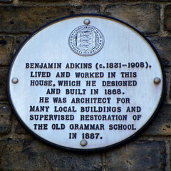Photo of Benjamin Adkins white plaque