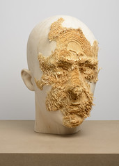 <strong>The Tainted - </strong> <br />Aron Demetz, Front (detail), 2012, Limewood, 50 cm x 40 cm x 62 cm