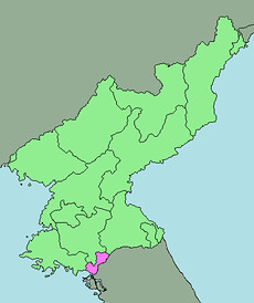 Area map of Kaesong Industrial Region, North Korea