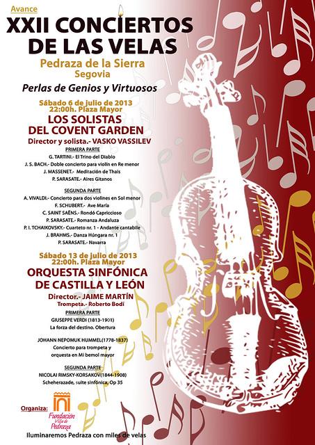 AVANCE XXII CONCIERTOS DE LAS VELAS 2013