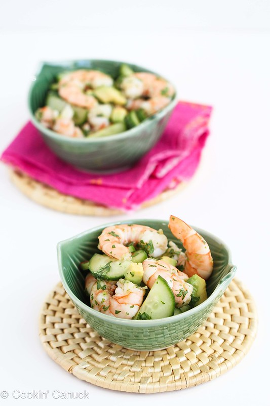 10-Minute Thai Shrimp, Cucumber & Avocado Salad Recipe #recipe #healthy