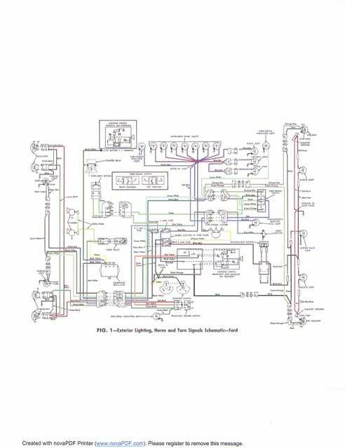1963 ford Galaxie exterior lighting wiring diagram ...