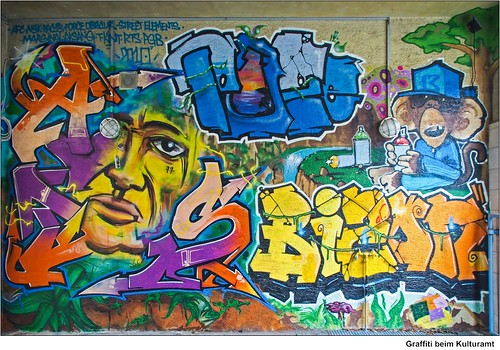 Graffiti beim Kulturamt   /   Graffiti at the cultural office