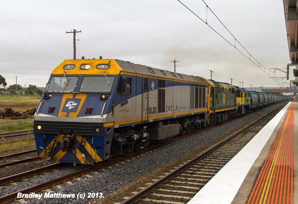 ELZ EL60-8026-45s1 0n 5MC7 SG Grain (Hoppers) to Oaklands at Somerton Loop (11/4/2013) by Bradley Matthews