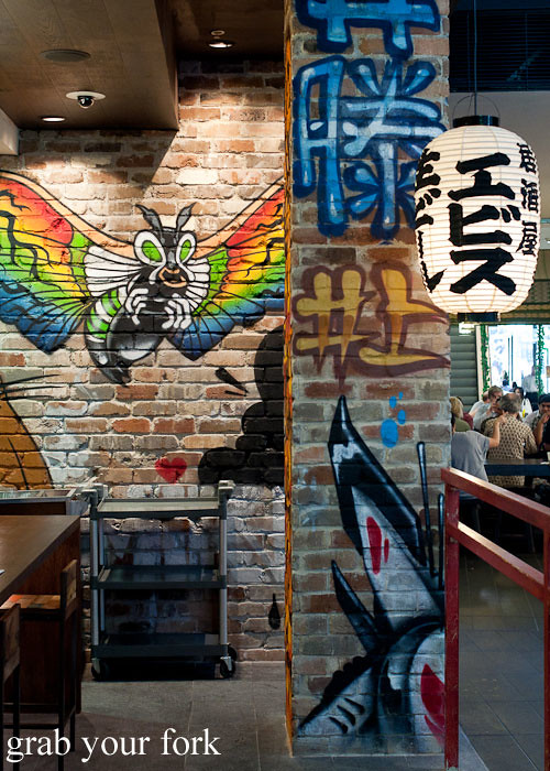 interior design at yebisu izakaya, regent place sydney