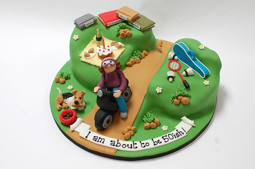 Vespa Riding Psychotherapists Cake Beautiful Birthday Cakes