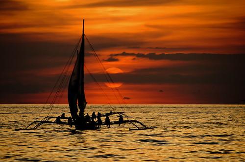 sunset vacation art beach photography philippines boracay
