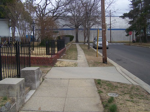 Inadequate sidewalk on the north side of the unit block of Quackenbos Street NW