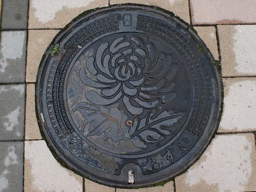 Mirasaka town Hiroshima pref, manhole cover (広島県三良坂町のマンホール)