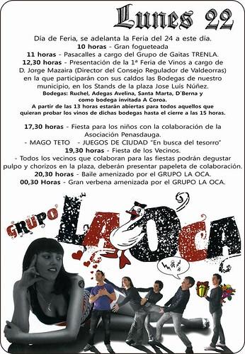 O Barco de Valdeorras 2013 - Festas de San Xurxo en Vilamartín - cartel 3º día