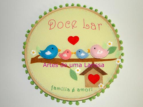 Doce Lar Família Pássaros by Artes de uma Larissa