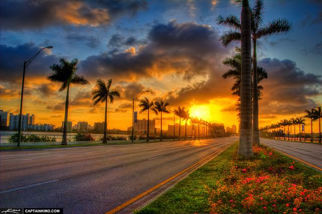 West-Palm-Beach-Sunrise-from-Okeechobee-Road