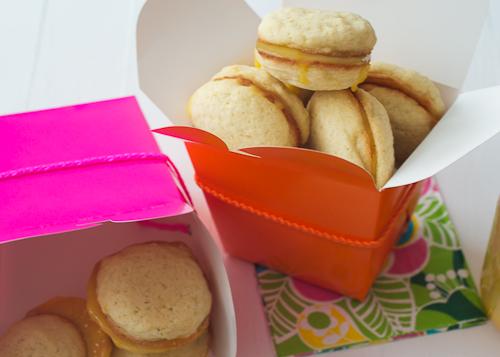 Lemon Sandwich Cookies with Pink Lemon Curd