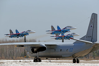 "Su-27 ""Russian Knights"" and An-26"