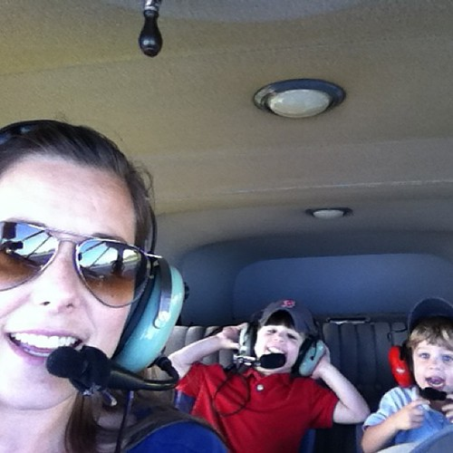 Just another day as a jet setter with my boys. #benefitsofhavingapilotinthefamily