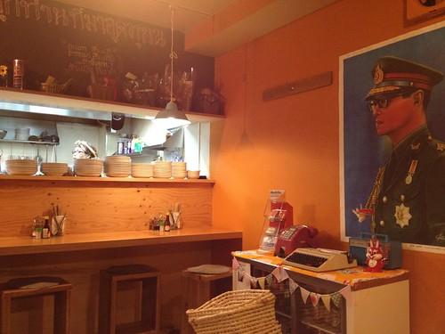 タイの国王の写真@ピーナッツ食堂