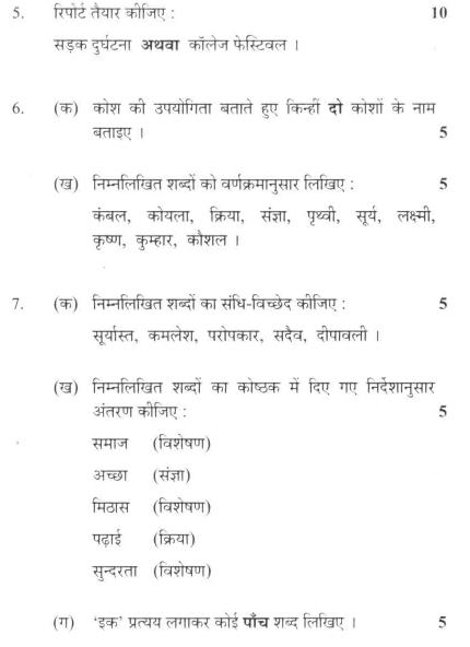 DU SOL B.A. Programme Question Paper -  Hindi C -  PaperII