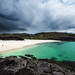 Dark Clouds Over Clachtoll Beach by Philipp Klinger Photography