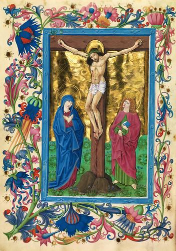 002-Crucifixion de Jesus-Misal de Salzburgo-1499-Tomo 1 -Biblioteca Estatal de Baviera (BSB)