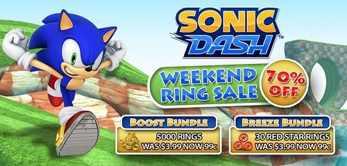 Sonic Dash WeekendRingSale