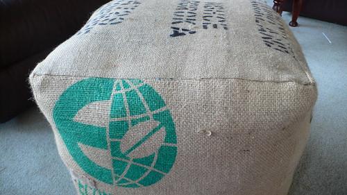Coffee sack Ottoman
