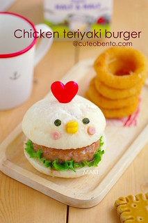 Teriyaki chicken burger chicken^^