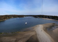 KAP at Centerport Park Sand Bar, 2 image panorama, NY