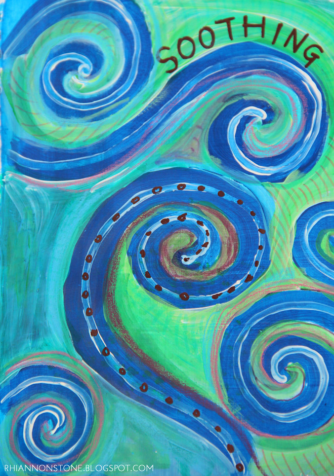 Art Journal #31 - Soothing Swirls