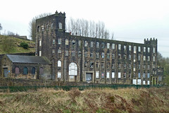 Old mill by the Rochdale Canal, Littleborough