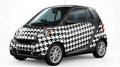 custom smart car black and white