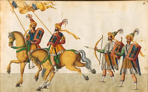 014- Cabalgata sobre los continentes-Asia-Descripción de las ocho festividades celebradas durante los juegos…1596-Biblioteca Estatal de Baviera