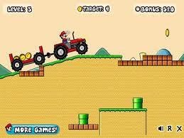 Mario na traktorze