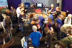 Maker Faire UK 2013 - UK Hackspace Foundation Stand Busy