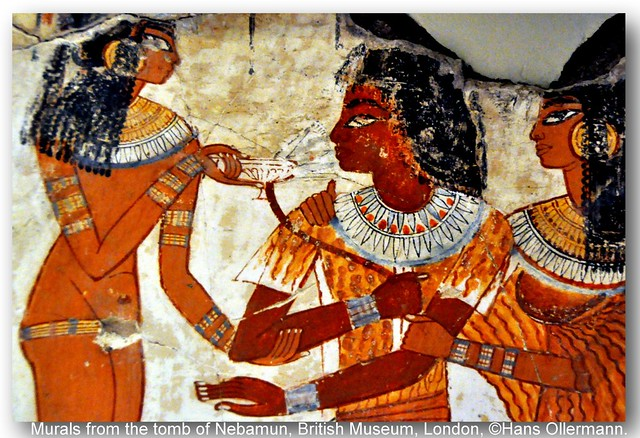 Murals from the tomb of nebamun british museum london for Egyptian fresco mural painting