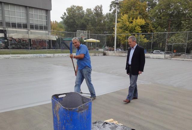 Bελτίωση στα υπαίθρια γήπεδα μπάσκετ της Κοιλάδας