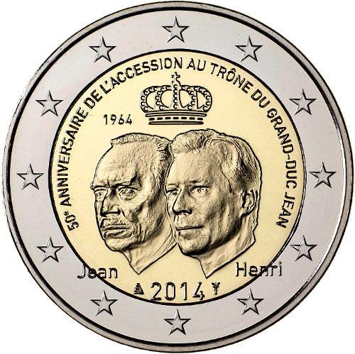2 Euro Luxemburgsko 2014, 50 výročie vojvodu Jeana
