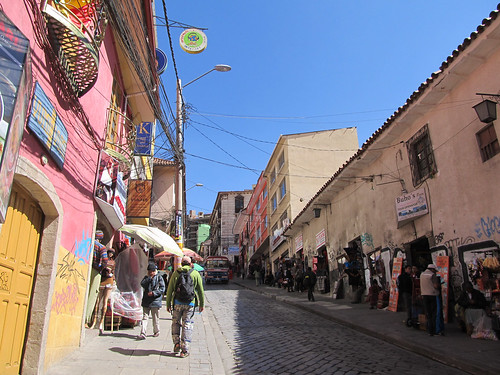 Lac Titicaca: notre rue dans le centre historique
