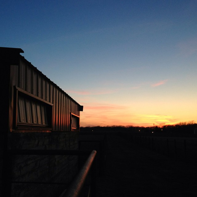 Sunset At the Barn