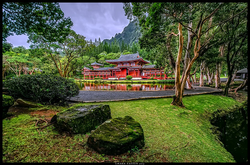 park mountains reflection tree art grass rock temple pond nikon memorial oahu path koolau buddist byodoin valleyofthetemples kahaluu d7000 ©markpatton
