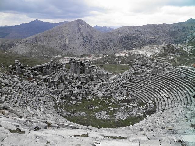 The Roman Theatre, completed around 180-210 AD, Sagalassos, Turkey