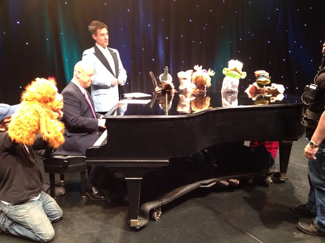 Noah Ginex Puppet Company in rehearsal and on the WGN Morning News