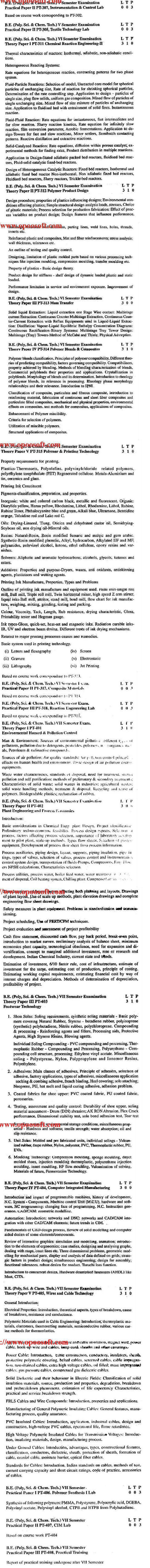 DTU Syllabus - Polymer Science & Chemical Technology