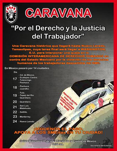 """Caravana """"Por el Derecho y la Justicia del Trabajador"""""""