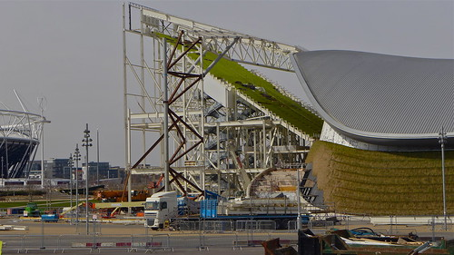 London Olympics 2013 (Queen Elizabeth Olympic Park); Dismantling the Aquatics Centre seating