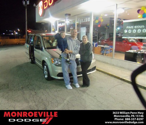 Monroeville Dodge would like to say Congratulations to Vicki Kelsey on the 2013 Dodge Caravan by Monroeville Dodge