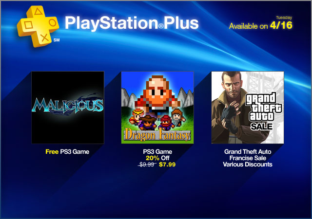 PlayStation Plus Update 4-16-2013