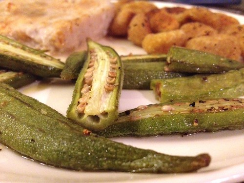 Spicy Roasted Okra