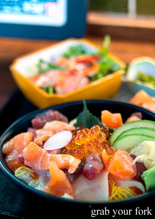 chirashi sushi at yebisu izakaya, regent place sydney