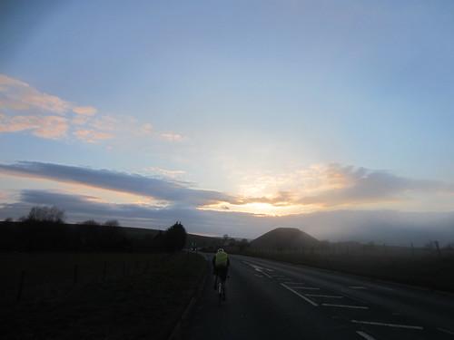 Chasing the sunset past Avebury